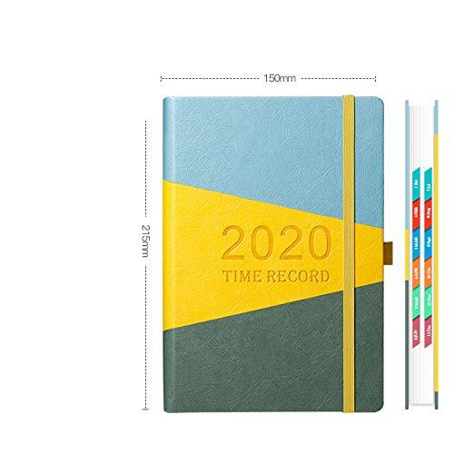 TAYIBO Notizbuch Nachfüllbare Seiten,Timeline Notepad, Arbeitsmonatsplan - B2, Mix aus Notizbuch und Tagebuch