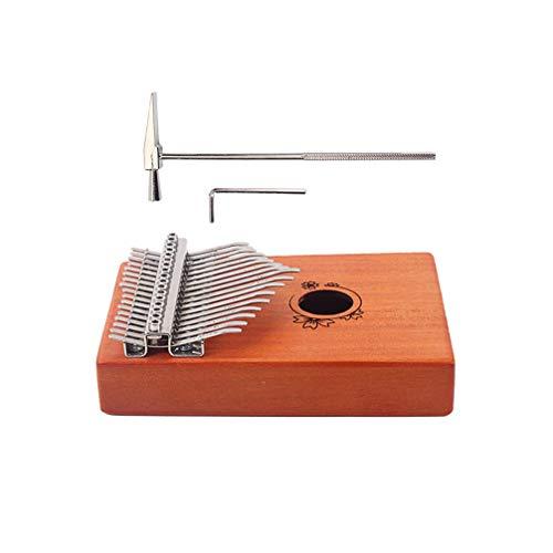 Healifty kalimba 17 teclas pulgar piano caoba maciza mbira instrumentos de dedo...