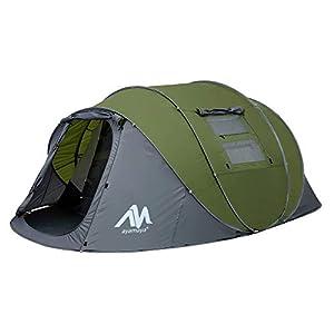 Tienda de campaña para 4 – 6 Personas/Hombre, para Acampar instantáneamente [5 Ventanas] Impermeable de Doble Capa para… 4