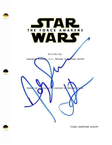 ANDY SERKIS & JJ ABRMAS CAST SIGNED AUTOGRAPH STAR WARS: THE FORCE AWAKENS FULL MOVIE SCRIPT, LOST, SUPER 8, STAR TREK INTO DARKNESS, ALIAS, FELICITY, GOLLUM THE LORD OF THE RINGS, HOBBIT, CAESAR PLANET OF THE APES