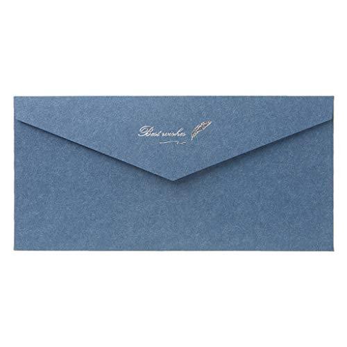 Sqiuxia 10 buste in carta kraft con motivo retrò vintage, per lettere di auguri, inviti per feste di nozze, 10 colori