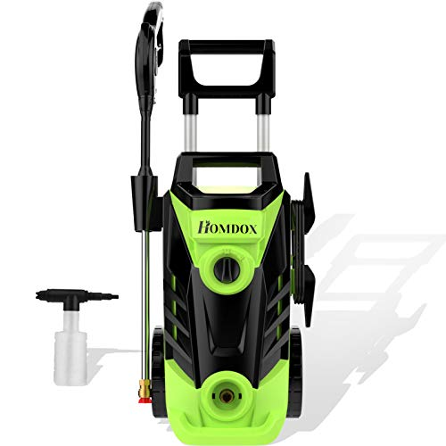 Homdox 3500 PSI Electric Pressure Washer 2.6 GPM High Pressure Washer 1800W Electric Power Washer Cleaner with 4 Nozzles (Green)