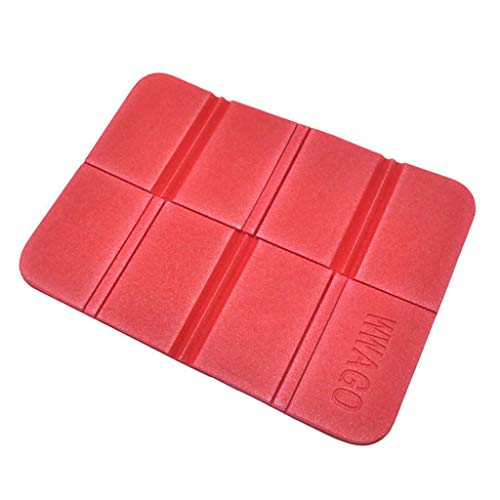 Fewear Outdoor Small Cushion Picnic Folding Picnic Mat Thick Grass Cushion Moisture Pad,Foldable Folding Outdoor Camping Mat Seat Foam XPE Cushion Portable Waterproof Chair Picnic Mat Pad (Red)