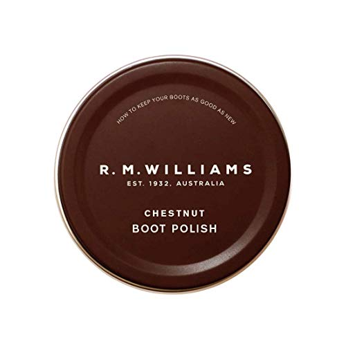 R.M. Williams Men's Stockman's Boot Polish, Chestnut, Brown, One Size