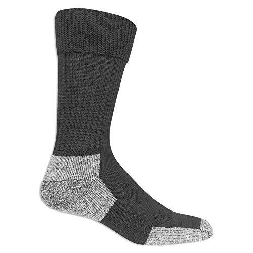 Dr. Scholl's Men's Diabetic and Circulatory Work 2 Pack Crew Sock, Black, Sock Size: 10-13/Shoe...