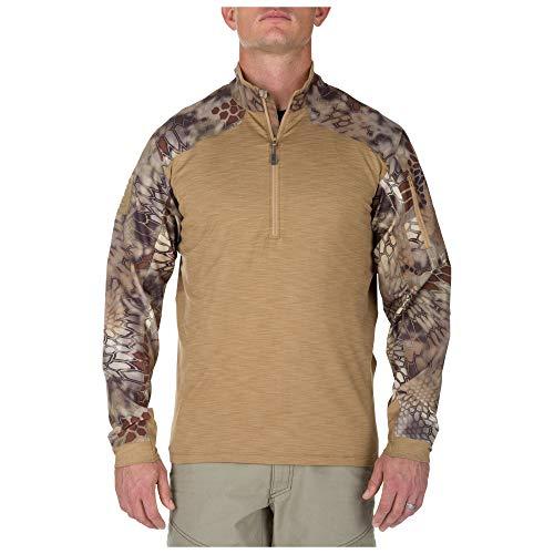 5.11 TACTICAL SERIES Rapid Quarter Zip (Kryptek) Shirt Homme Coyote FR : L (Taille Fabricant : L)