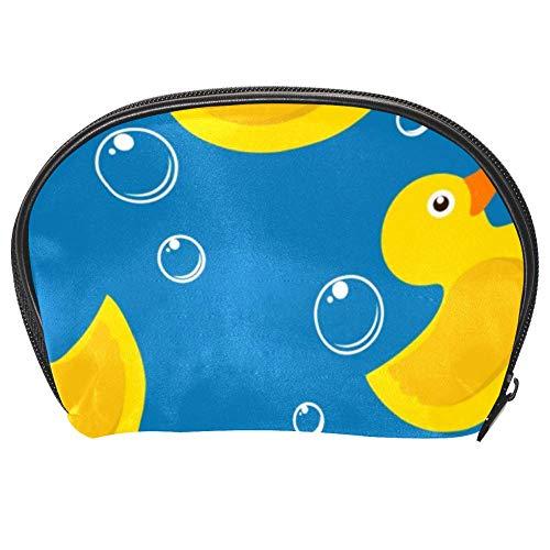 TIZORAX Kosmetiktasche mit Enten und Blasen für Reisen, praktischer Organizer, Make-up-Tasche für Frauen und Mädchen