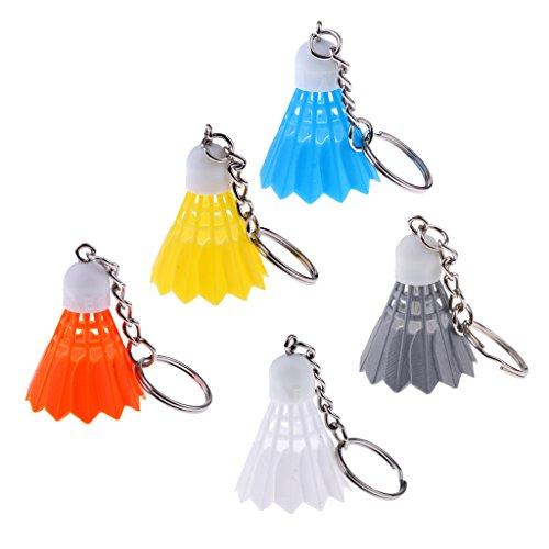 Sharplace 5pcs Schlüsselanhänger Schlüsselring mit Badminton Anhänger Fahrzeugschlüssel Handtasche Anhänger