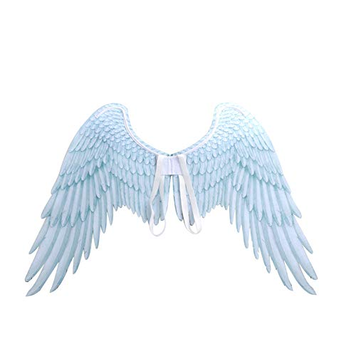 Sungpunet Unisex 3D-Engels-Flügel-Halloween-Kostüm-Zusatz Kreative Feder-Engels-Flügel Cosplay Zubehör für Halloween-Weihnachtsfest 1pc Weiß