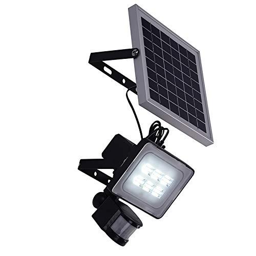 ZXIN Luz Solar Exterior, Foco Led Solar Exterior Separada, IP65 Impermeable, con 2M Cable, 4000mAh Batería de Gran Capacidad, Lámpara Solar para Patio, Jardín, Balcón, Garaje (Blanca)