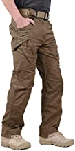 LABEYZON Men's Outdoor Work Military Tactical Pants Rip-Stop Cargo Pants Men (Brown, S)