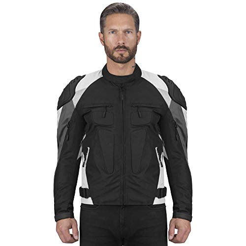 Viking Cycle Asger Textile Motorcycle Biker Jacket for Men With Removable Armor
