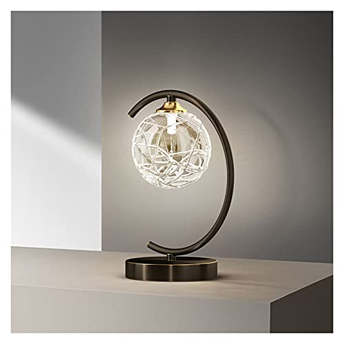 Lámpara de Mesa Lámpara de mesa de mesa de mesa de mesa Lámpara de mesa con pantalla ancha Lámpara de mesa de bola LED para dormitorio Sala de estar Oficina Industrial Styling Lámpara Mesilla de Noche