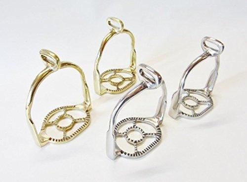 Paar Portugiesisch barocke Steigbügel Silber oder Goldfarben, 90° gedreht Farbe Gold