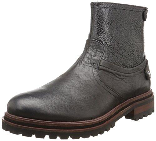 Hudson Herren Mexborough Calf Biker Boots, schwarz, 41.5 EU