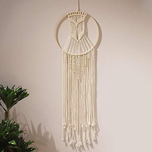 sesemao Atrapasueños hecho a mano, red redonda y plumas, para colgar en la pared, decoración de manualidades, árbol grande