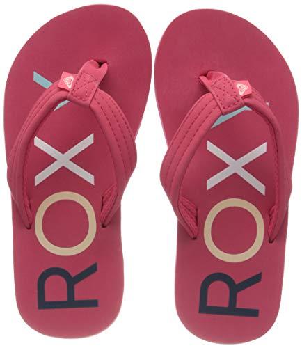Roxy RG Vista, Zapatos de Playa y Piscina para Niñas, Rosa (Berry Bry), 30 EU