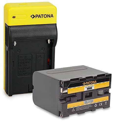 PATONA Bateria NP-F970 con Estrecho Cargador Compatible con Sony NP-F960, NP-F950, NP-F550, NP-F750