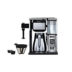 Stainless steel coffee maker with multiple attachments