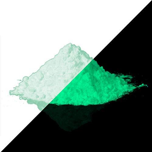 Lumentics - Pigmento verde fluorescente ad alte prestazioni, colore verde fosforescente al buio, polvere di luce notturna, polvere di incandescenza, pigmenti UV (40 g, 150 µm)