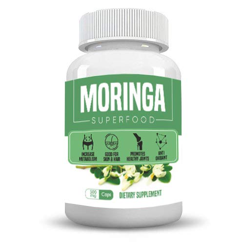 Health first Moringa Extract Capsules - 30000mg High Strength Moringa Leaf Extract Supplement with Vitamins & Iron (60 Capsules)