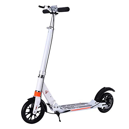 Best Bargain Scooter Urban Adults Foldable, Double Shock Absorption Disc Brake, Non-Electric, Suppor...