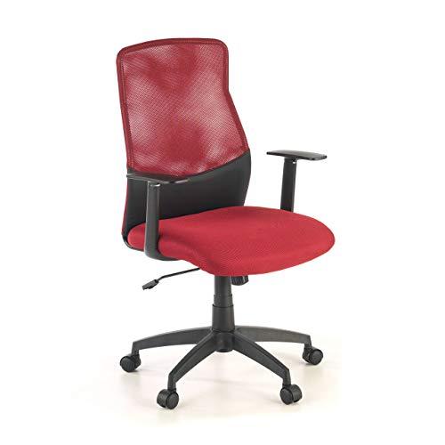 OFICHAIRS Silla Miami Silla giratoria de Oficina Silla de Escritorio de Malla Respaldo Transpirable Mecanismo basculante Color Rojo
