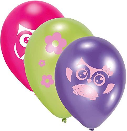 amscan Luftballon HAPPY OWL 6 Stück sortiert