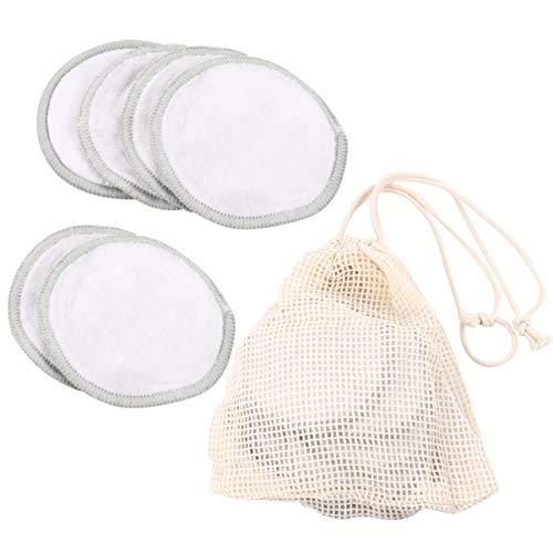 Artibetter 12 Pcs Réutilisable Maquillage Démaquillant Tampons Enlèvement de Bambou Tampons Lavable Visage Nettoyant pour Les Yeux Maquillage Démaquillant Tampons avec Sac de Rangement