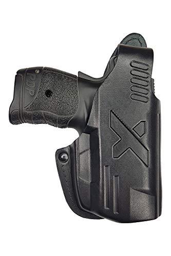 VlaMiTex B4 Pistolera de Piel para Cinturón para Walther PDP, Negro