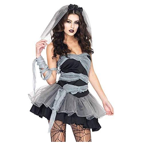 mmq Halloween Sexy Cuerpo Femenino enterrar Novia Cosplay Vestido Disfraz de Halloween