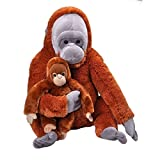 Wild Republic Jumbo Mom and Baby Orangutan, Stuffed Animal, 30 inches, Gift for Kids, Plush Toy, Fill is Spun Recycled Water Bottles