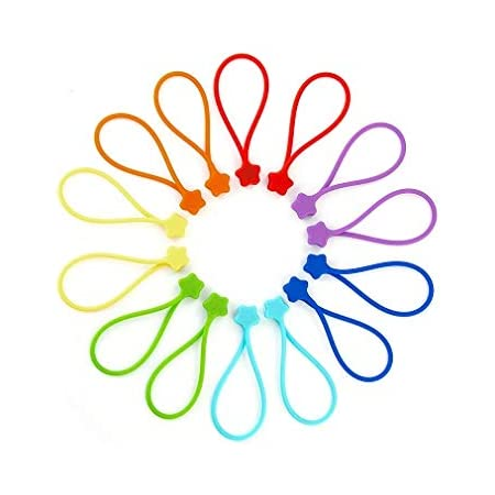 Reusable/Twist/Ties for Cord Wraps Kitchen Office School 8 Pack Magnetic Cable Ties Holding Stuff for Home