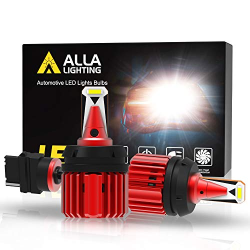 Alla Lighting Xtreme Super Bright T25 3157 3156 LED Bulbs Back-up Reverse Lights 3000 Lumens CANBUS Error Free SMD 3155 4057 4114 Replacement for RV, Cars, Trucks, SUVs, Vans, 6000K Xenon White