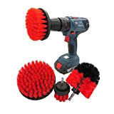 Kit de Fijación del Cepillo de Perforación 4 PCS Drill Brush Coche Detallado Kit, Soft Power Scrubber Cepillo Set para Limpieza Asiento de Coche, Alfombra para Limpiar Baño