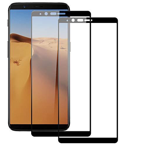 BOBI Lot de 2 Film Protection d'Écran pour OnePlus 5T, Verre Trempé Film Protecteur sans Bulles, Anti-Rayures, Dureté 9H