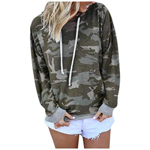EDC Camo Hoodie for Women Pullover Casual Camouflage Hoodies Long Sleeve Drawstring Sweatshirt Tops Blouse Sportswear