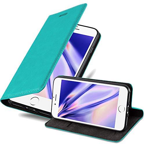 Cadorabo Hülle für Apple iPhone 6 / iPhone 6S in Petrol TÜRKIS - Handyhülle mit Magnetverschluss, Standfunktion & Kartenfach - Hülle Cover Schutzhülle Etui Tasche Book Klapp Style