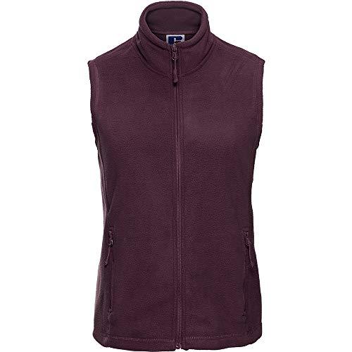 Russell Europe Damen Fleece-Weste / Fleece-Gilet, Anti-Pilling, durchgehender Reißverschluss (L) (Burgunderrot)