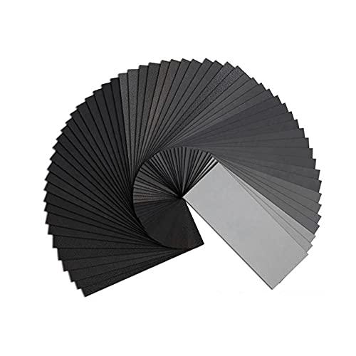 Papel de lija Papeles de lija abrasivos para joyería de madera de metal Acabado artesanal automático 45 piezas Papel de lija de grano 120-5000