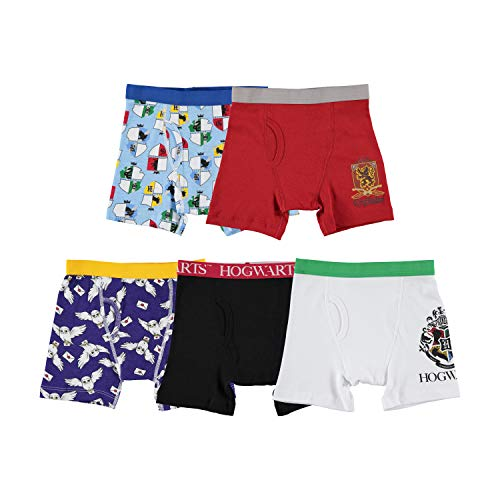 Warner Brothers Boys' Big Harry Potter Underwear Multipacks, HP 5pk Cotton Bxrbr, 8