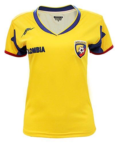 Arza Sports Colombia Women Fan Jersey (Medium) Yellow