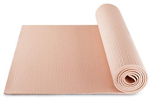 BODYMATE Yogamatte Universal Rose-Gold - Größe 183x61cm – Dicke 5mm – Schadstoffgeprüft frei von Phthalaten, BPA, Schwermetallen –...