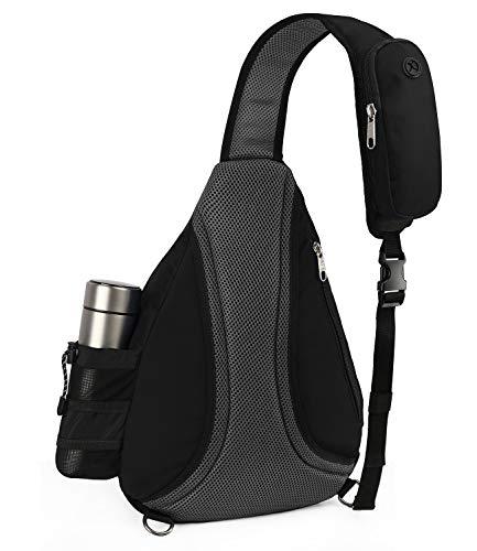Sling Bag, Crossbody Backpack Daypack One Strap Shoulder Bag Traveling Men Women BLACK