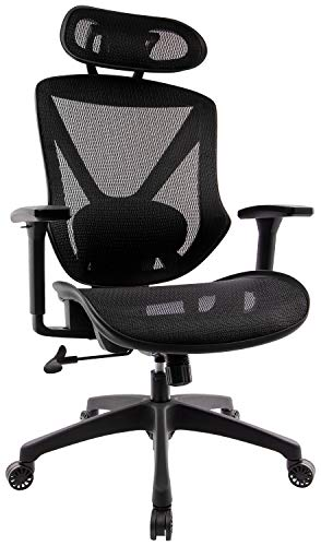 Mesh Task Chair Rolling Swivel Adjustable Computer Chair with Lumbar Support, High Big and Tall Fabric Office Chair, Ergonomic Desk Task Executive Chair Headrest Chair Tall Office Chair (1)