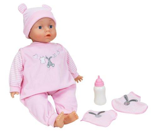 LISSI DOLLS 90200 - Chiara Sprechpuppe mit 12 verschiedenen Babylauten, Circa 46 cm