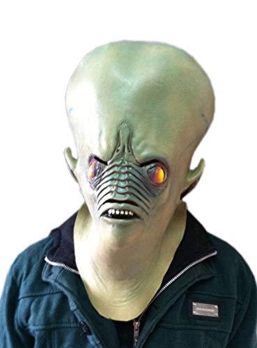 JNKDSGF HorrormaskeCreepy Horror Ghost Alien Latex Maske Schauspieler Kopfbedeckung Halloween Kostüme Weihnachtsmaske Tanzparty Maske