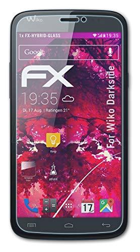 atFolix Glasfolie kompatibel mit Wiko Darkside Panzerfolie, 9H Hybrid-Glass FX Schutzpanzer Folie
