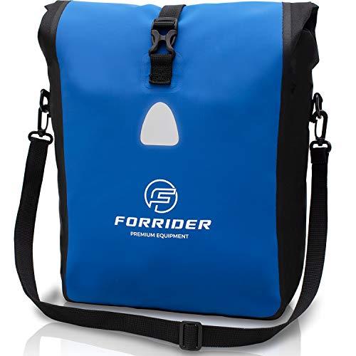 Forrider Fahrradtasche Wasserdicht für Gepäckträger [22L Volumen] mit Schultergurt | Gepäckträgertasche Fahrrad EINZELTASCHE Packtasche hält an jedem Gepäckträger