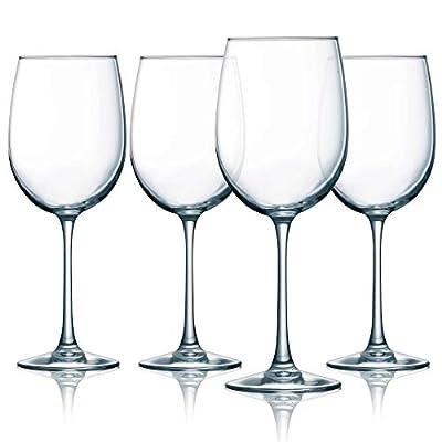 Luminarc Cachet 19 Ounce White Wine Glass 4-Piece Set, 19-Ounce, Clear